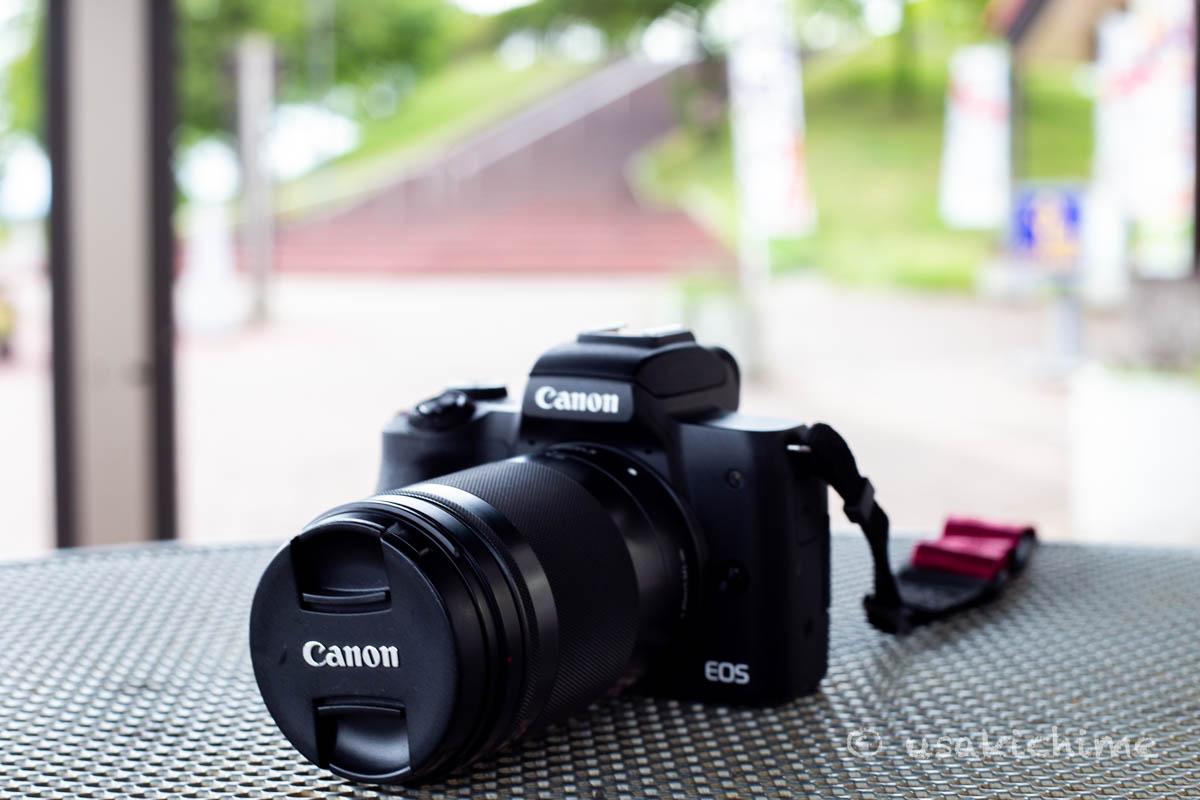 【ミラーレスカメラ】CANON EOS Kiss M@長野道 梓川SA
