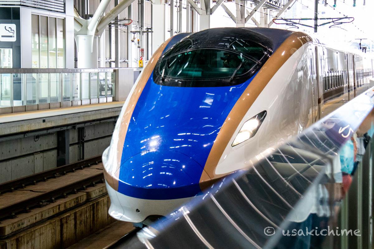 北陸新幹線 かがやき@富山駅
