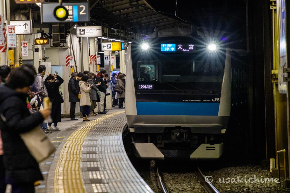 電車@川口駅(京浜東北線)