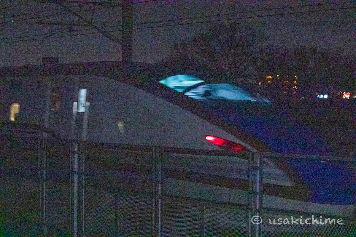 新幹線の車両@南与野駅